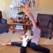 Gisele Bündchen : Sa fille Vivian, déjà une pro du yoga