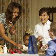 Michelle Obama lors de la présentation des décorations de Noël de la Maison Blanche. Washington, le 4 décembre 2013.