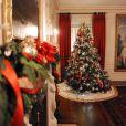 La Maison Blanche redécorée pour Noël, dévoile son nouveau visage au cours d'une présentation. Washington, le 4 décembre 2013.