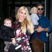 Jessica Simpson : Pulpeuse businesswoman avec ses enfants et son futur mari