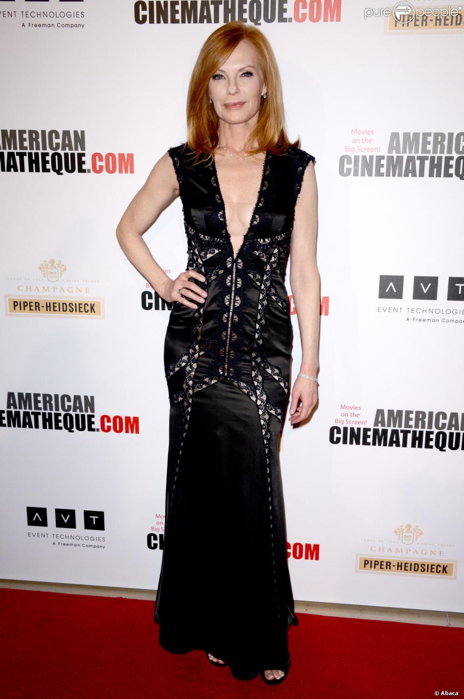 Marg Helgenberger lors des 27e American Cinematheque Awards qui honorent Jerry Bruckheimer à Beverly Hills le 12 décembre 2013