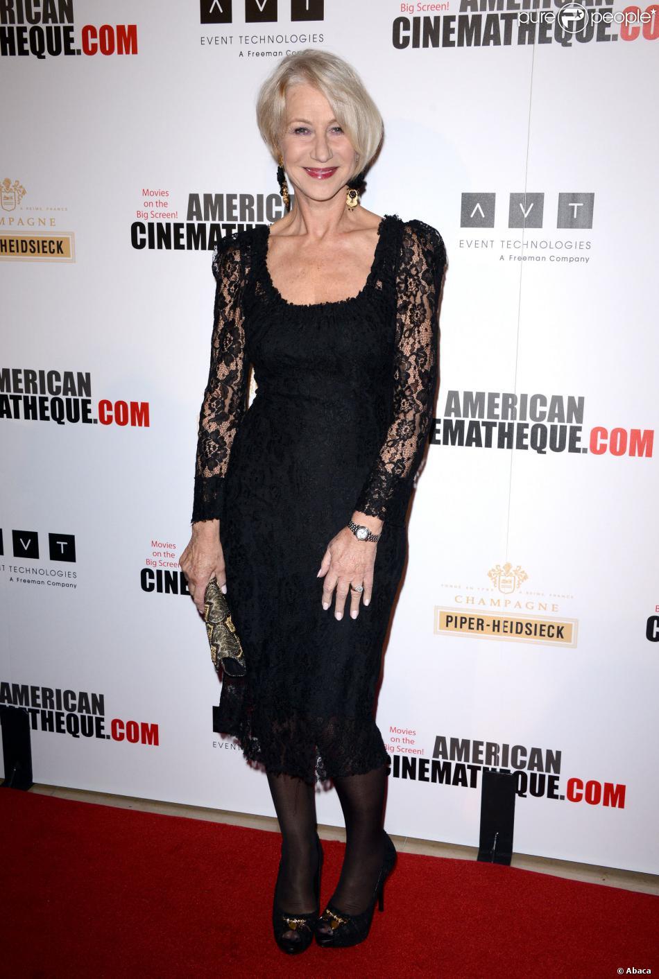 Helen Mirren lors des 27e American Cinematheque Awards qui honorent Jerry Bruckheimer à Beverly Hills le 12 décembre 2013