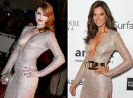 Elodie Frégé vs Alessandra Ambrosio : Bataille de décolletés avec la même robe