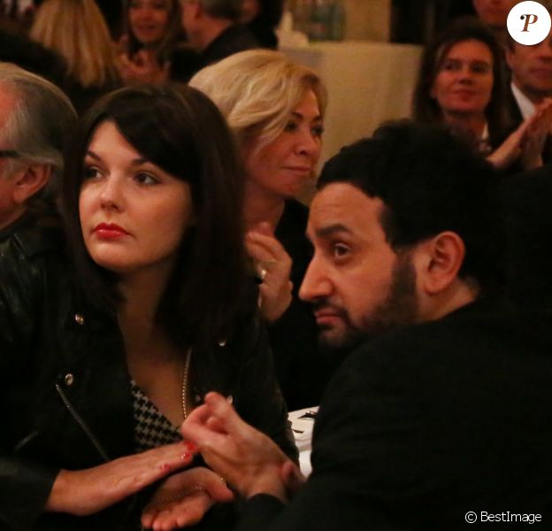 Exclusif - Cyril Hanouna et sa femme Emilie lors de la soirée annuelle de la FIDH (Fédération Internationale des Droits de l'homme) et 65ème anniversaire de la Déclaration universelle des Droits de l'Homme à l'Hotel de Ville de Paris le 10 decembre 2013