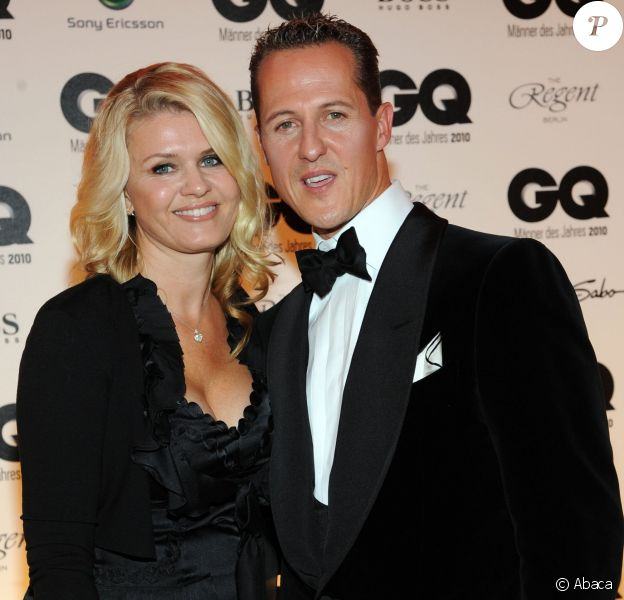 Michael Schumacher et sa femme Corinna lors de la soirée GQ à Berlin le 29 octobre 2010
