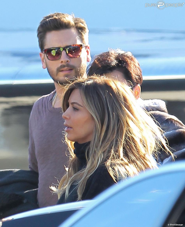 Kim Kardashian, Kris Jenner, Scott Disick partent à Aspen le 27 décembre 2013