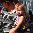 Kourtney Kardashian emmène ses enfants Mason et Penelope a une fete d'anniversaire a Los Angeles, le 15 septembre 2013.