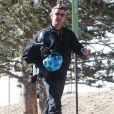 Exclusif - Gavin Rossdale achève ses vacances au ski en famille à Mammoth, le 5 janvier 2014.