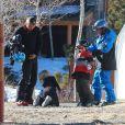 Exclusif - Gavin Rossdale et ses fils Kingston et Zuma à Mammoth, le 5 janvier 2014.