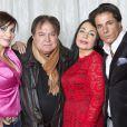 Exclusif - Giuseppe Polimeno, ses parents Marie France et Pasquale, et sa soeur Antonia, à Paris le 23 décembre 2013.