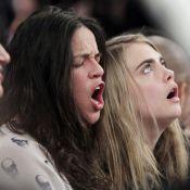 Michelle Rodriguez et Cara Delevingne : Baisers langoureux devant les Knicks