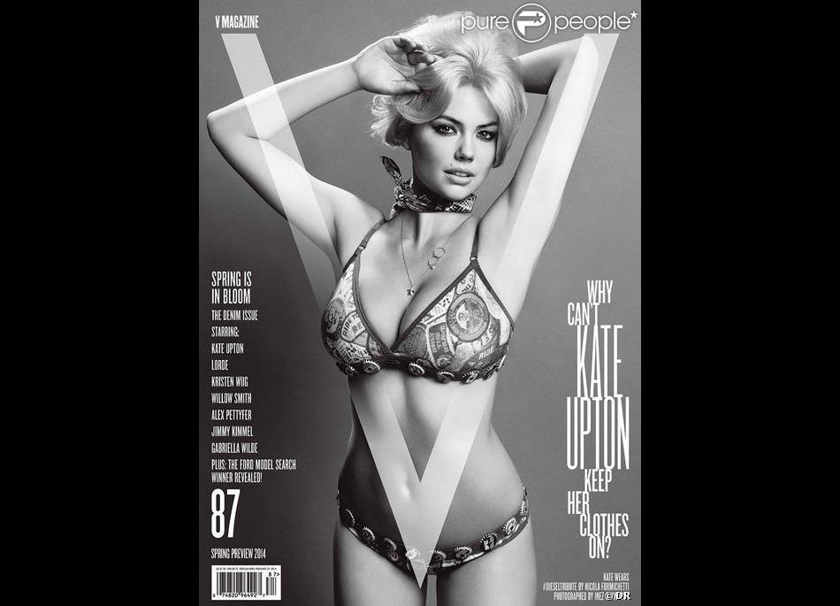 Kate Upton, exquise en couverture du V87, le nouveau numéro de V Magazine.Photo par Inez et Vinoodh.