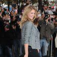 Kate Upton lors du défilé Chanel printemps-été 2014 à Paris. Le 1er octobre 2013.