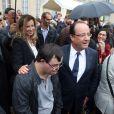 François Hollande et Valérie Trierweiler à l'Elysée, le 14 septembre 2013.
