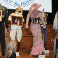 """Vernissage de l'exposition """"Il était une fois Baby et Népal"""" du photographe Frédéric Nebinger retracant l'arrivée des deux éléphantes sauvées par la princesse Stephanie de Monaco, au Musée Océanographique de Monaco, le 10 janvier 2014."""
