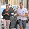 Cristina d'Espagne et son mari Iñaki Urdangarin, tous deux mis en examen dans le scandale Noos, le 5 septembre 2013 à Genève, en Suisse.
