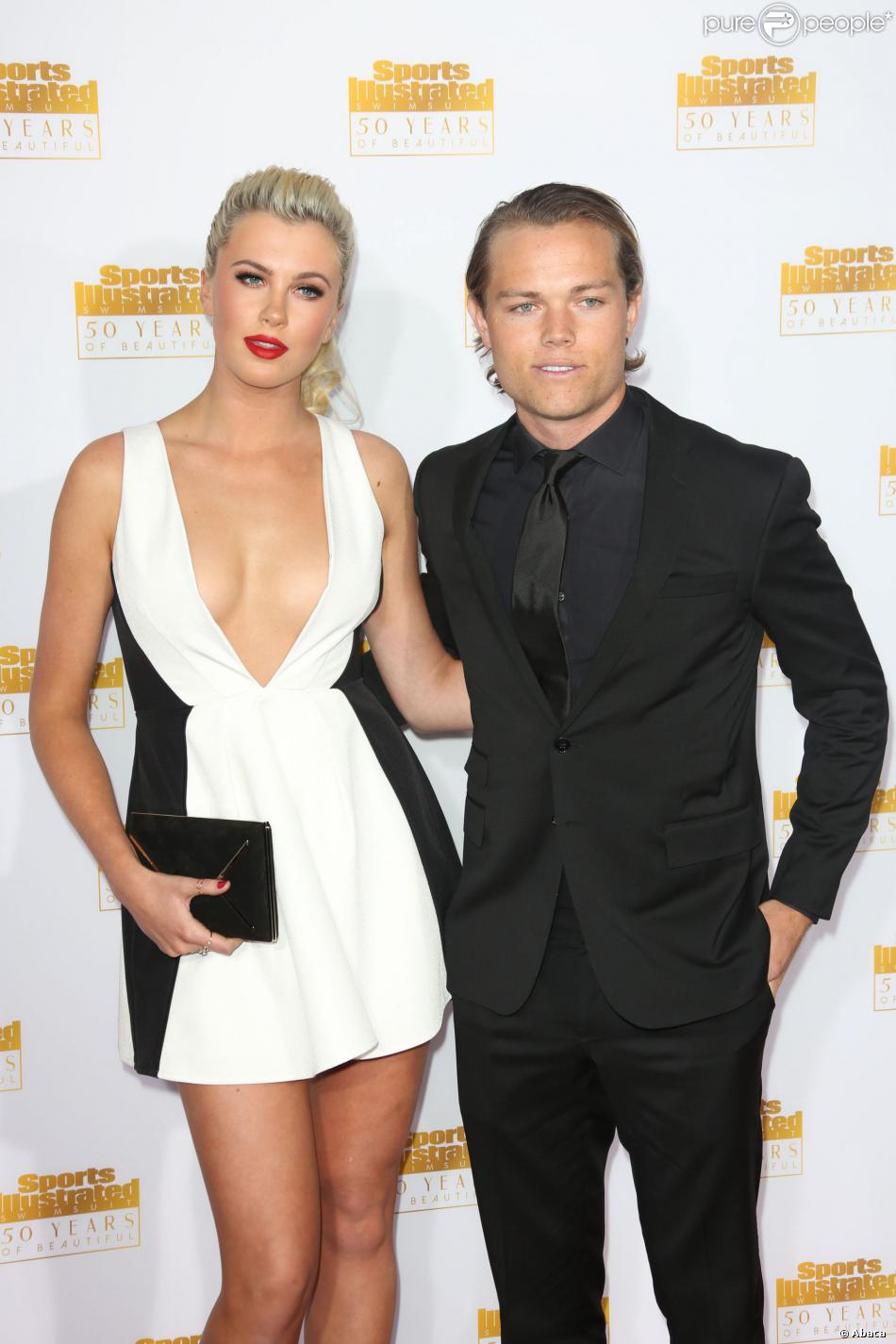 Ireland Baldwin et son petit ami Slater Trout à la soirée anniversaire des 50 ans du magazine Sports Illustrated Swimsuit Issue à Los Angeles, le 14 janvier 2014.