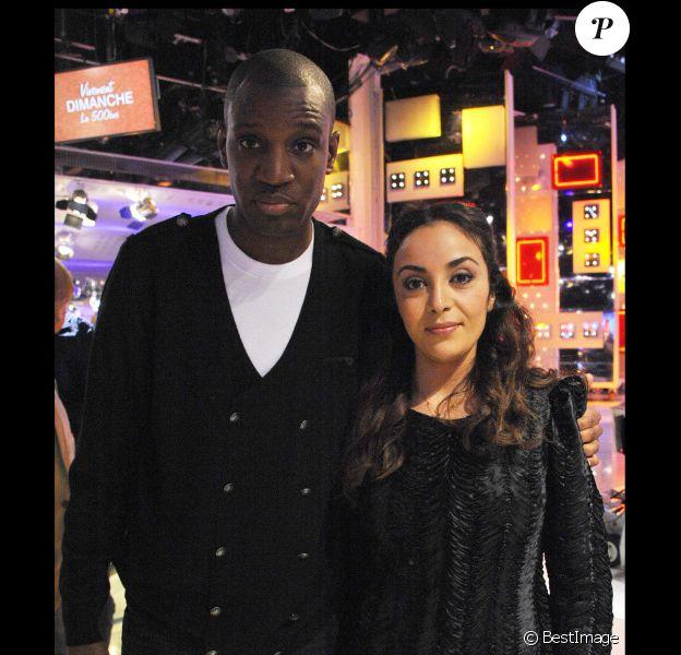 Abd Al Malik et la chanteuse R'n'B Wallen à Paris le 17 avril 2011.