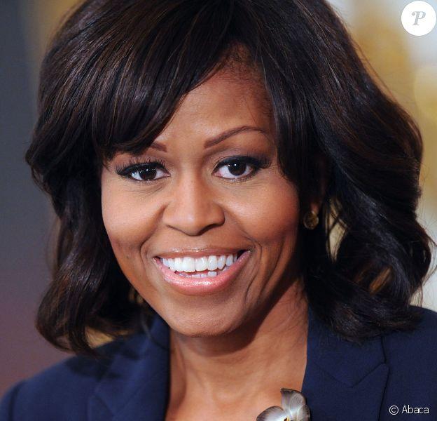 Michelle Obama lors d'un discours à la Maison-Blanche, le 2 avril 2013.