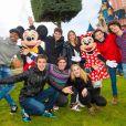 La comédienne et chanteuse Martina Stoessel, interprète du personnage de Violetta dans la série du même nom sur Disney Channel, au parc Disneyland Paris, à Marne-la-Vallée, le jeudi 16 janvier 2014.