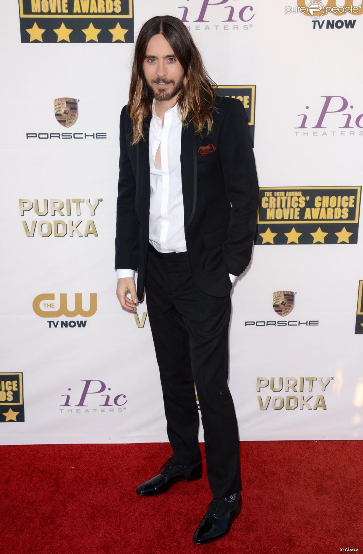 Jared Leto lors des Critics' Choice Movie Awards au Barker Hanger à Santa Monica, Los Angeles, le 16 janvier 2014