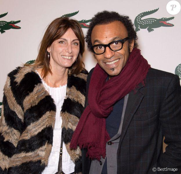 Manu Katche et sa femme Laurenceassistent à la Beautiful Party by Lacoste à la Générale. Paris, le 17 janvier 2014.