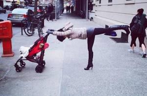 Hilaria Baldwin, acharnée du yoga : Maman active, même en plein New York !