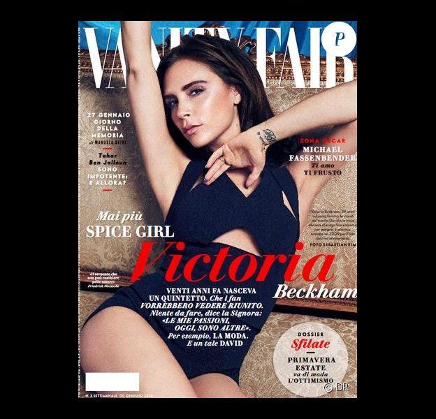 Victoria Beckham en couverture du magazine Vogue Italie.