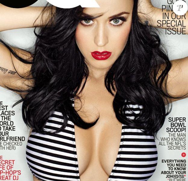 Katy Perry et sa poitrine volumineuse en une du magazine GQ, daté de février 2014.