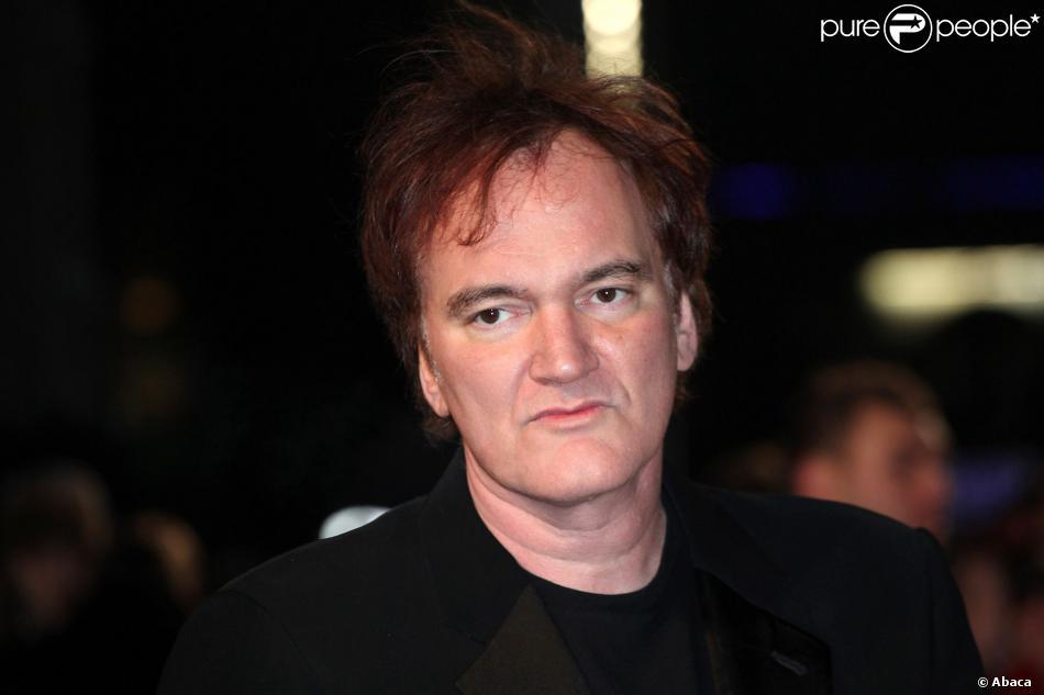 Quentin Tarantino lors de l'avant-première à Londres de Django Unchained le 10 janvier 2013