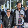 Kourtney Kardashian et son compagnon Scott Disick font du shopping sur la 5e avenue à New York le 4 Novembre 2013. Le couple vient d'acheter une nouvelle maison.
