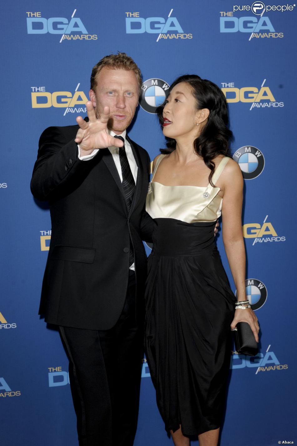 Kevin McKidd et Sandra Oh   224  la 66e c  233 r  233 monie des Directors Guild of    Kevin Mckidd And Sandra Oh