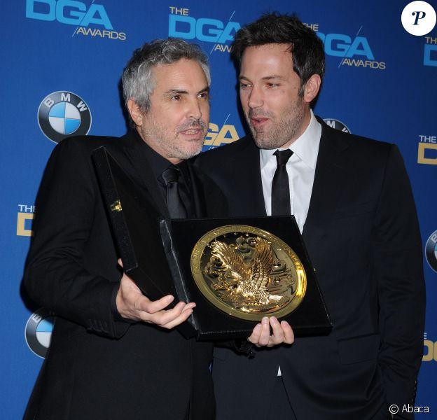 Alfonso Cuaron et Ben Affleck à la 66e cérémonie des Directors Guild of America Awards, organisée au Hyatt Regency Century Plaza de Los Angeles, samedi 25 janvier 2014