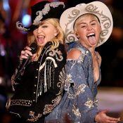 Miley Cyrus, cow-girl délurée avec Madonna : Elle fesse la reine de la pop !