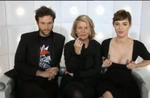Louise Bourgoin exhibe sa poitrine dans 'La Boîte à questions' !
