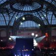 """La marque Reebok et le spécialiste des cours de fitness """"Les Mills"""" transforment le Grand Palais, à Paris, en une salle de sport géante, le 1er février 2014."""