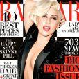 Lady Gaga en couverture du magazine Harper's Bazaar pour le mois de mars 2014.