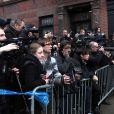 Des policiers devant l'appartement de Philip Seymour Hoffman, retrouvé mort le 2 février 2014 à New York