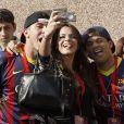 Bruna Marquezine, la compagne du footballeur Neymar, à Barcelone le 3 juin 2013.