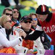 Le prince Albert II et la princesse Charlene de Monaco ont assisté ensemble à l'épreuve de descente au matin du 9 février 2014 lors des Jeux olympiques de Sotchi, en Russie.