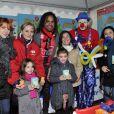 Christian Karembeu à nice pour soutenir l'opération Pièces Jaunes, le 8 février 2014.