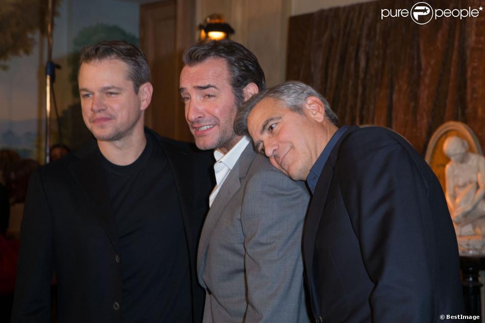 Jean dujardin radieux il affiche sa complicit avec son for Dujardin clooney