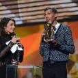 Stromae a triomphé lors de la 29e cérémonie des Victoires de la Musique, le 14 février 2014 au Zénith de Paris.