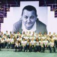 Les Enfoirés tous réunis lors de la première des Enfoirés 2014, jeudi 16 janvier 2014, au Zénith de Strasbourg