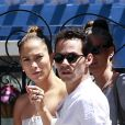 Jennifer Lopez et son ex Marc Anthony à Los Angeles, le 19 juin 2013.