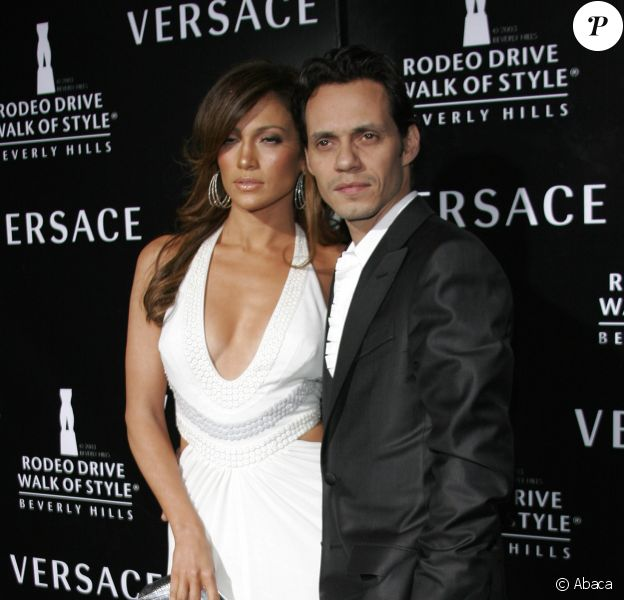 Jennifer Lopez et Marc Anthony à Los Angeles, le 8 février 2007.