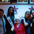 Flora Coquerel et la bande de la matinale de Virgin Radio au grand complet, dans les locaux de la radio, mercredi 19 février 2014.