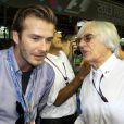 Bernie Ecclestone et David Beckham le 22 septembre 2013 à Singapour