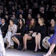 David Gandy, Kate King, Monica Bellucci, Bianda Brandolini d'Adda et Eva Herzigovaassistent au défilé Dolce & Gabbana automne-hiver 2014-15 à Milan. Le 23 février 2014.