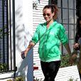 Olivia Wilde, enceinte à West Hollywood. Le 21 février 2014.
